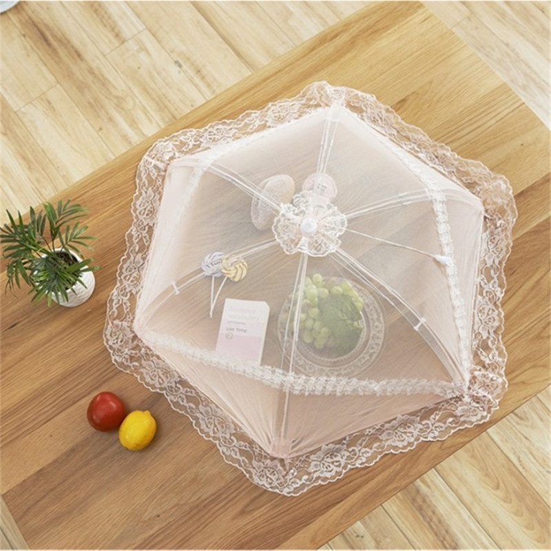 HearTogether Official Store HearTogether Brand European Lace Outdoor Food Covers Foldable Anti-Mosquito Food Protector Covers