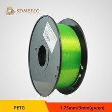 Т-Стекло PETG 3d принтер нити 1.75 мм 1 кг пластик Резина Расходные Материалы MakerBot/RepRap/UP/мендель