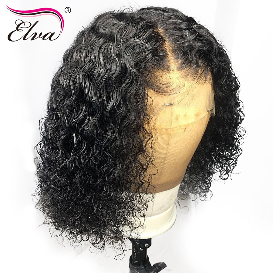 Pre Plucked 360 Lace Frontal Wig With Baby Hair Curly 4.5
