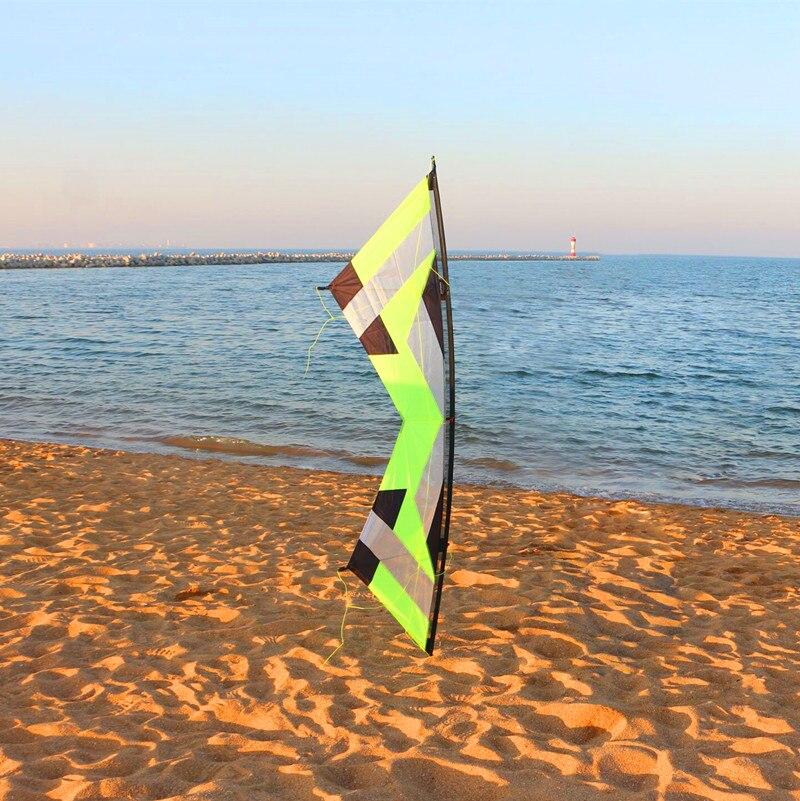 Livraison gratuite haute qualité 2.1 m quad Line traction cascadeur cerf-volant albatros volants cerfs-volants pour adultes parachute kitesurf poignées - 4