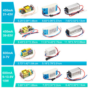 Image 4 - LED Driver 1W 3W 5W 10W 20W 30W 36W 50W 100W 300mA 600mA 900mA 1500mA Waterproof Lighting Transformers for DIY Lamp Power Supply