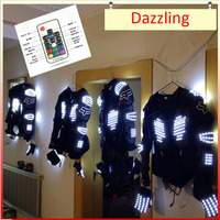 Z New Arrived LED Show armor LED Suits Robot Costume LED Luminous Clothing For Night Clubs Party KTV Party Supplies LED Light