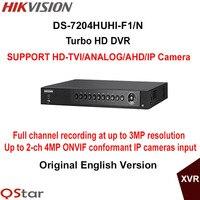 Hikvision Original English Version DS 7204HUHI F1 N 4ch 1080P Turbo HD DVR Support HD TVI