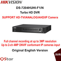 Hikvision Original English Version DS 7204HUHI F1 N 4ch 1080P Turbo HD DVR Support HD TVI