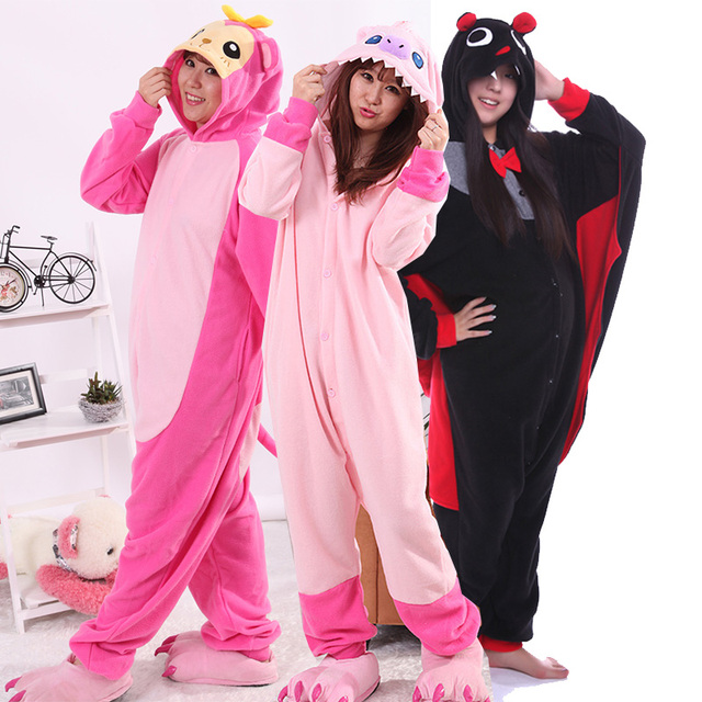 668c0c8b813c Wholesale Bear Dragon Penguin Monkey Onesies Unisex Fleece Hoodie Cartoon  Sleepwear Hooded Pajamas for Women Cute