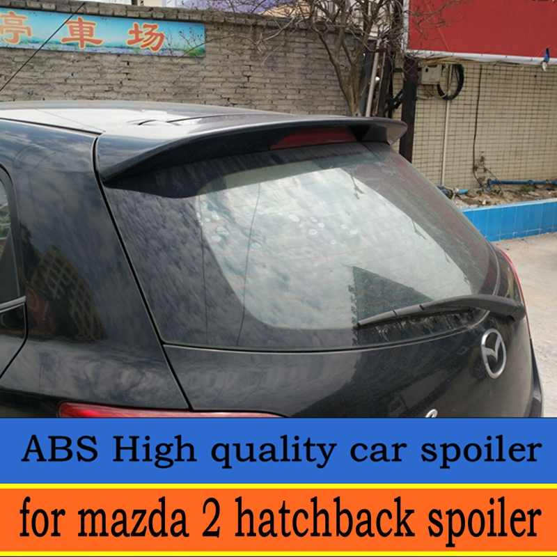 For <font><b>Mazda</b></font> <font><b>2</b></font> hatchback <font><b>spoiler</b></font> <font><b>mazda</b></font> <font><b>2</b></font> <font><b>spoiler</b></font> 2007-2013 High Quality ABS Material Car Rear Wing unpaint Color for <font><b>mazda</b></font> <font><b>2</b></font> image