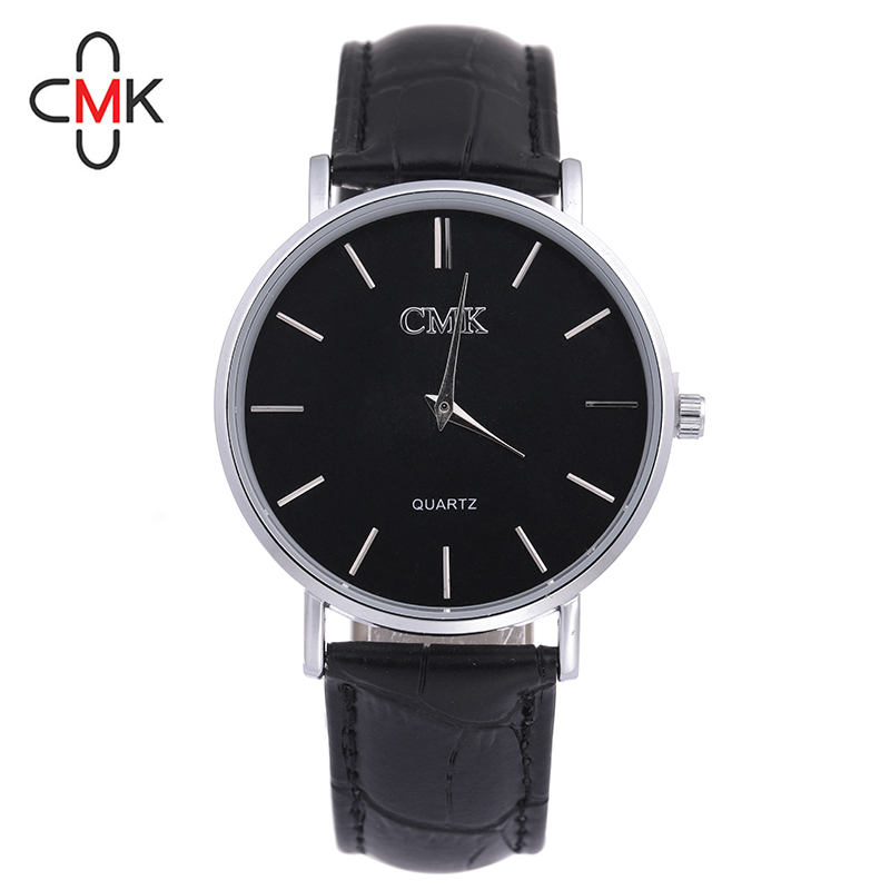 CMK Simple Watches Men Leather Fashion Male Casual Quartz Watch men Business Wristwatch Relogio Masculino erkek kol saati saat 6pcs 7 5cm 2 2g soft bait fishing lures plastic fish carp pesca soft lures fishing tackle soft bait noeby