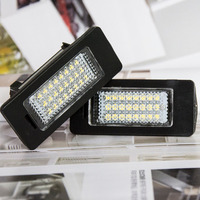 Top 2Pcs LED License Plate Lights 6000K Number Plate Light For BMW E82 E88 E90 E92