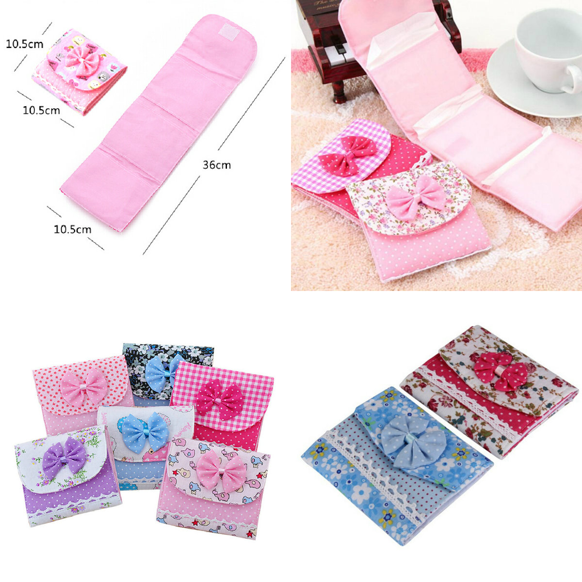 1PCS Cute Small Articles Gather Pouch Case Cotton Sanitary Napkin Bag Organizer Storage Hold Pads Carrying Bag