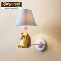 Qiseyuncai 2018 new Nordic Village Simple Small Fresh Elephant Small Hedgehog Wall lamp Children's Room Bedroom Lamps Lighting