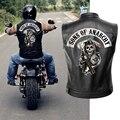 Кожаная куртка сынов анархии  Мужская мотоциклетная куртка  черная мотоциклетная куртка в стиле панк