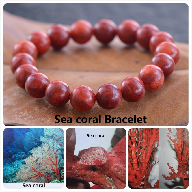 Hot Selling Jewelry Natural Sea Coral Bracelet DIY Hand Chain Wholesale