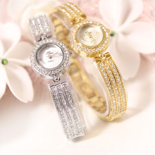 New Hot-selling Mother-of-pearl Pearl Strap High-end Chain Watch Rhinestone Female Without Digital Scale