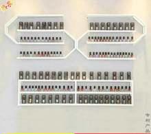 Стеллаж для маникюрного салона витрина лака ногтей железная