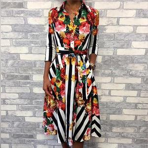 bc252a8fad2 ninimour Summer Women Elegant Midi 2018 Casual Floral Print