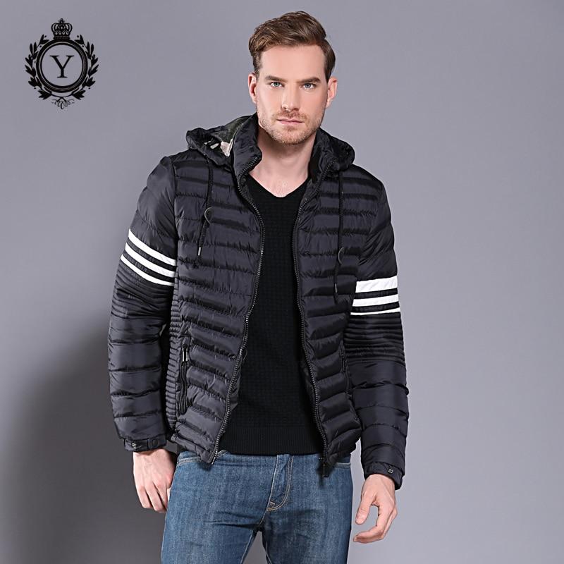 COUTUDI 2018 kurtka zimowa mężczyźni wysokiej jakości bawełny wyściełane z kapturem marki kurtka moda gruby zużyta kurtka męskie ciepłe parki w Parki od Odzież męska na  Grupa 1