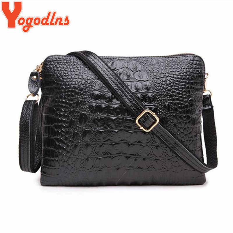 Yogodlns Factory Sale 2019 Genuine Leather Women Clutch Vintage Crocodile Pattern Shoulder Bags Evening Party Messenger Bags