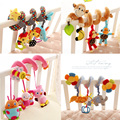 Activity Spiral Stroller Infant Bee Toys Baby Musical Crib Multifunctional  Animal Bee Pink Bed Hanging Rattles Mobile Toy Gift