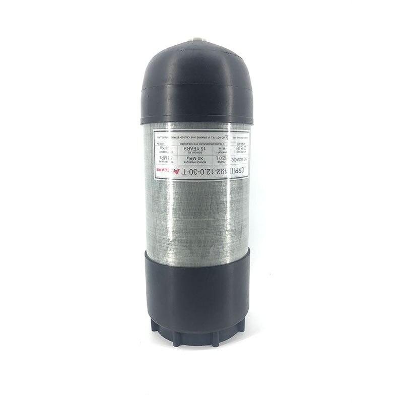 AC8005 12L HPA PCP Paintball réservoir/cylindre pour la chasse tir Targe Airsoft AirGun/Condor PCP réservoir avec protecteur tasse en caoutchouc