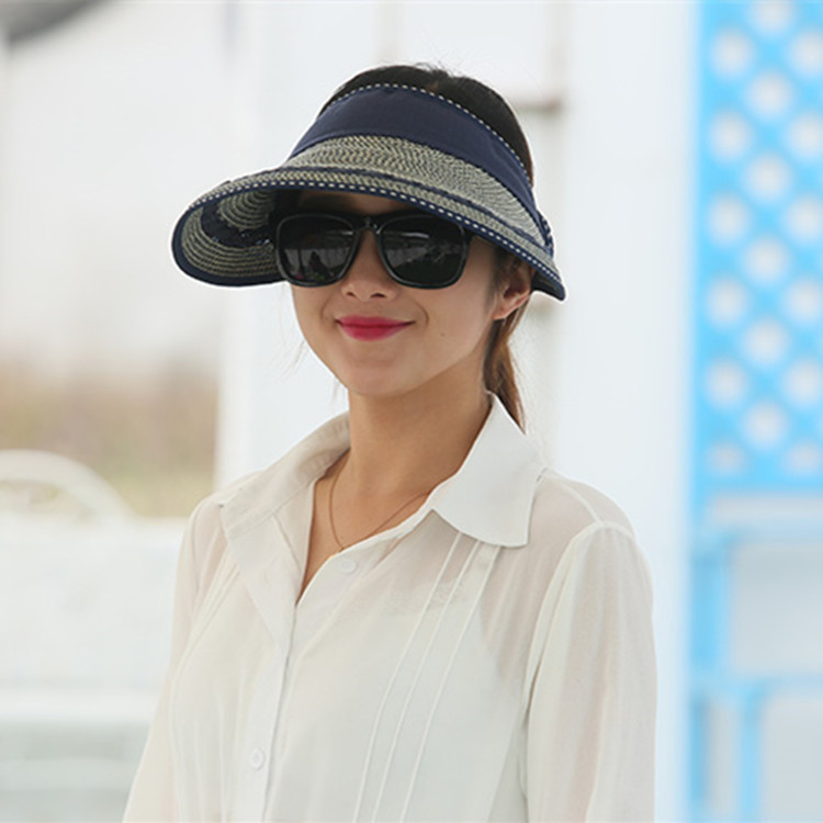 3375f31c 2018 Hot New Fashion women sun hat sun visor hat summer hats for women  summer hat Visor Cap feminino Viseras Free Shipping