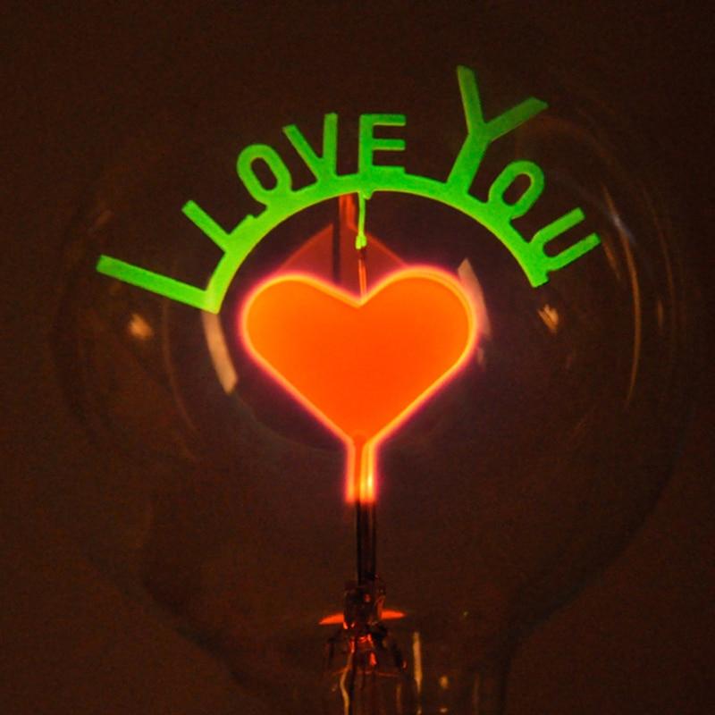 Lâmpadas Incandescentes interior lâmpada retro luz Pattern : Flamingo / Christmas/ Flowers/ Love/ Rose / i Love You