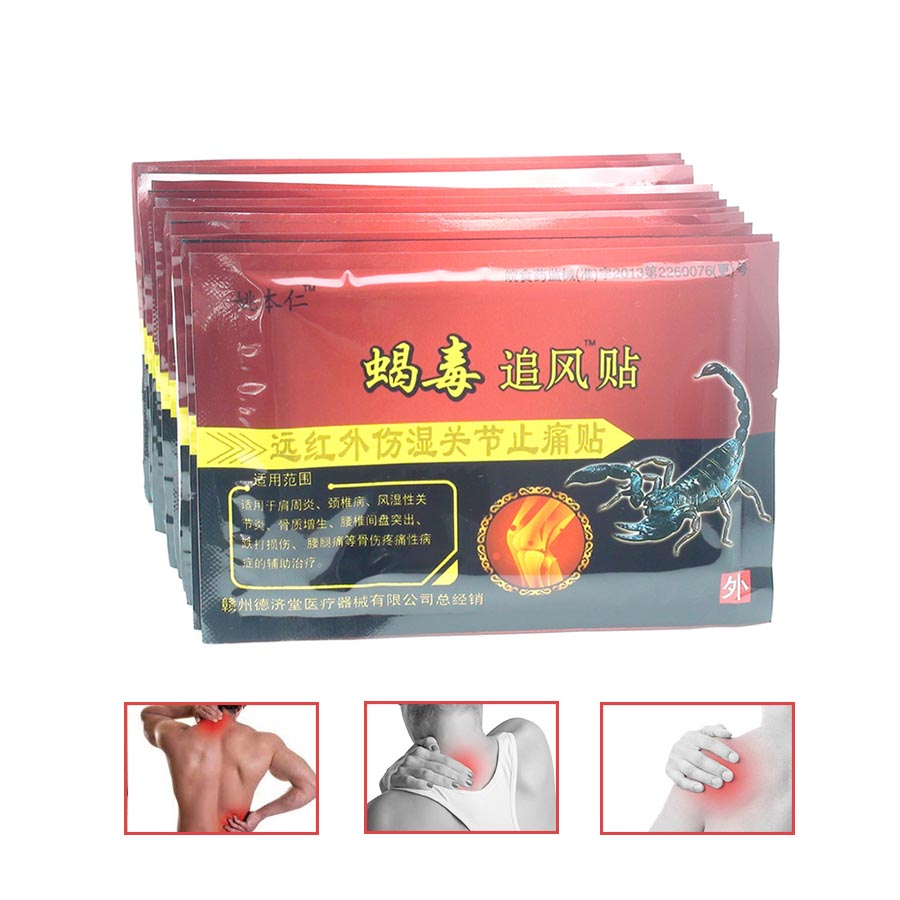 96Pcs/12Bags Massager Medical Pain Relief Patch Knee Back body Pain Plaster Rheumatism Arthritis Joint Pain C496 2boxes 12 magnetic patch for hyperosteogeny medical massage patch treat osteoarthritis bone hyperplasia spondylosis herb plaster