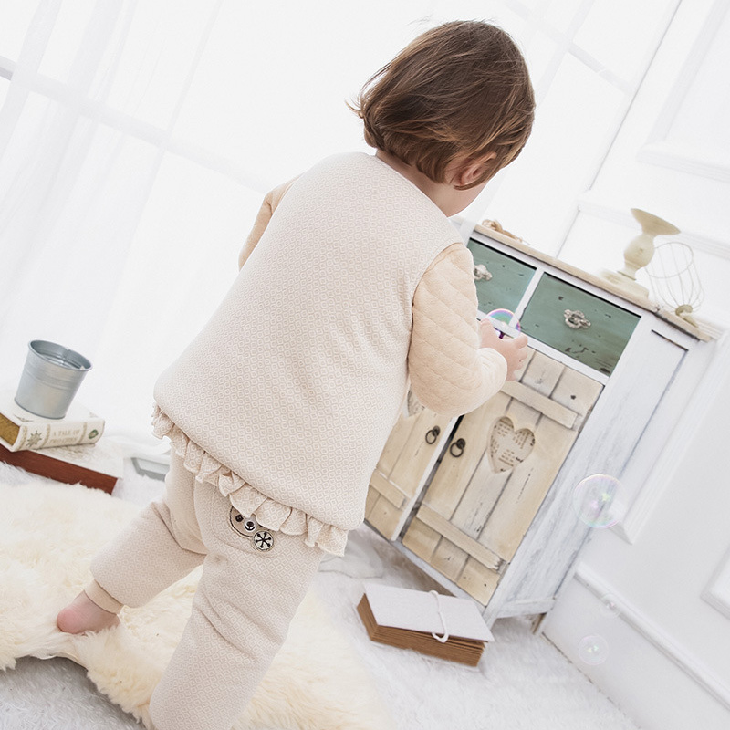 b62311885634e MOHOCAKO Naturally Colored Cotton Autumn Winter Baby Girl Vest ...