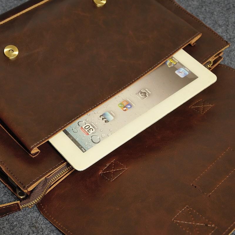Vintage Men Business Real Genuine Leather Briefcase Travel Causal Shoulder Messenger Portfolio Laptop Bags Lawer Handbag Bolsa (18)