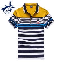 Homens Da Moda Listrado Botão Gola Polo Camisas Marca Masculina Camisas  Casual Camisetas Hombre Tace Camisa Dos Homens do Polo d. 8bee67baf3447