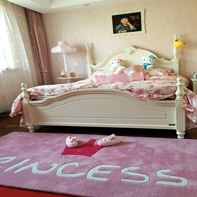 La rose princesse carpet tapis couronne simple chambre fille porche ...
