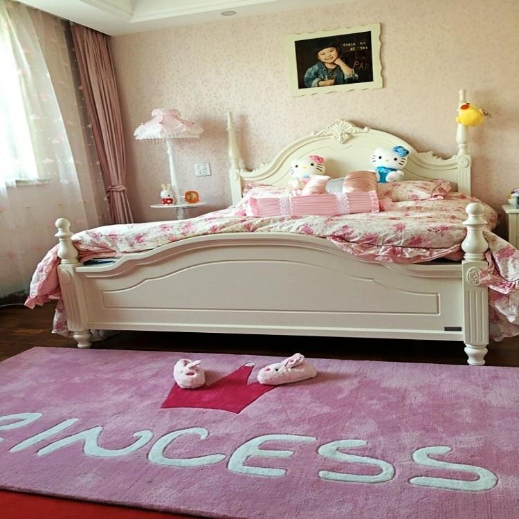 US $45.58 30% OFF|The pink princess carpet mats crown simple bedroom girl  porch custom handmade acrylic carpet mat children livingroom rug lovely-in  ...