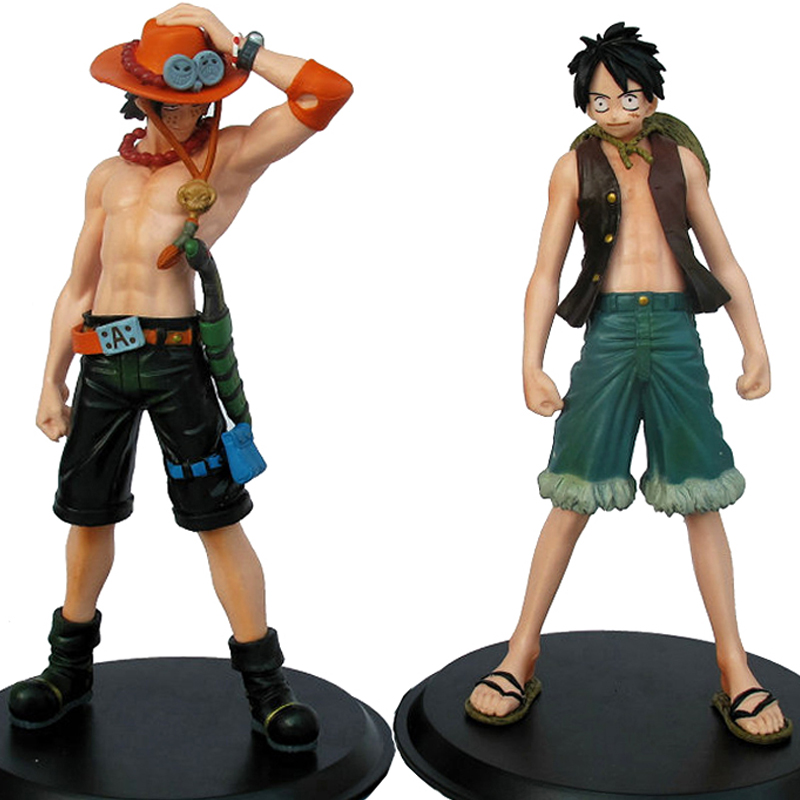16cm PVC One Piece Luffy Ace Action Figure Toy 6.3inch One Piece Figure Model Anime Toys For Children цена