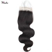 Meetu Malaysian Body Wave 6x6 Closure Non Remy Free Part Human Hair Closure 4x4 inch Swiss Lace Closure 5x5 with Baby Hair