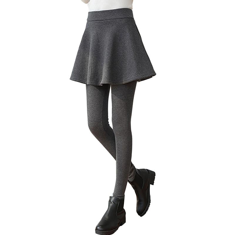 High Quality 2019 Slim Mini Skirts Leggings Winter Thick Warm Women Legging Fitness Pants Womens Leggins Trouser