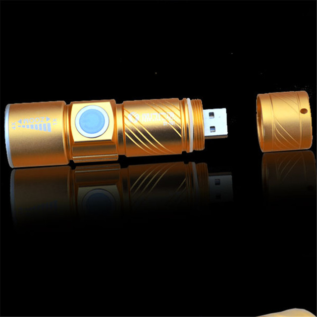 Online Shop Led Flashlight Usb Lampe Torche Militaire Camping