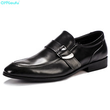 Fashion Designer Mens Leather Shoes Oxford Genuine Leather Shoe Formal High Quality Italian Hasp Business Dress Shoe italian shoe with matching bag new arrival design matching italian shoe and bag set with stones high quality woman shoes ja10 4