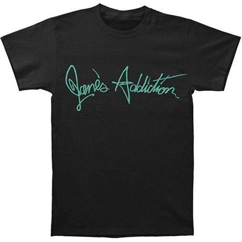 Janes Addiction Script Logo T-Shirt Short Sleeve Discount 100 % Cotton T Shirt Mens 100% Cotton Plus Size Top Tee