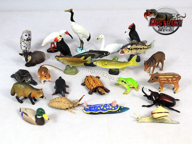 mini pvc figure Animal Insect / Fish / Turtle Model capsule Toys 15pcs/set mr froger aquatic creatures model toy shark wild animals toys zoo modeling set plastic solid sea life fish classic toys turtle