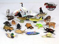 mini pvc figure Animal Insect / Fish / Turtle Model capsule Toys 15pcs/set