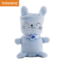 Cute Rabbit Design Baby Blanket Coral Fleece Warm Baby Swaddling Blanket