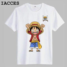One Piece T Shirts Men Funny Luffy Cotton Short Sleeve Men Fashion T Shirt Anime Monkey D Luffy Tops Tees T-shirt Men Clothing