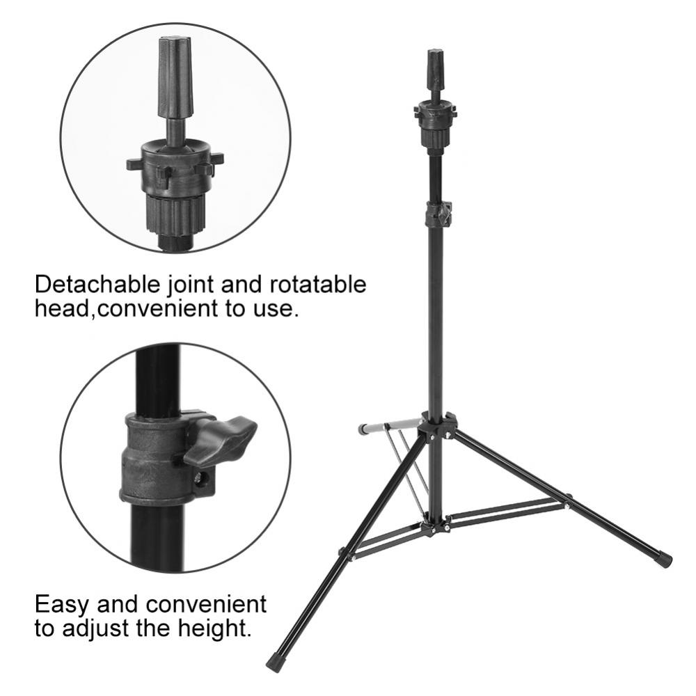 Adjustable Wig Stands Tripod Stand Hair Mannequin Training Hairdressing Clamp Hair Wig Head Holder Tools steel mannequin tripod stand hair salon adjustable tripod wig stand hairdressing training head clamp holder