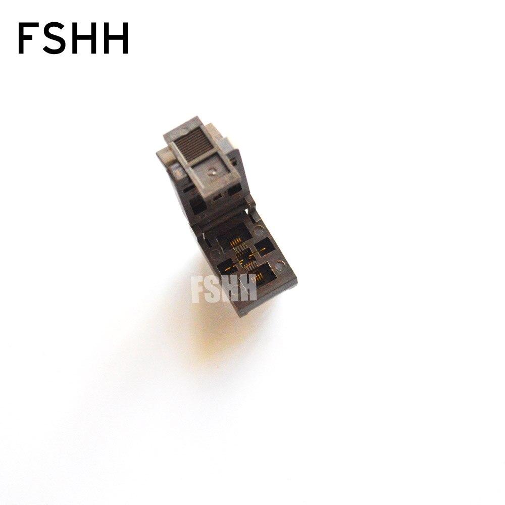 FSHH QFN10 test socket DFN10 MLF10 WSON10 IC socket Pitch=0.5mm size=3mm*3mm fshh qfn32 to dip32 programmer adapter wson32 udfn32 mlf32 ic test socket size 3 2mmx13 2mm pin pitch 1 27mm