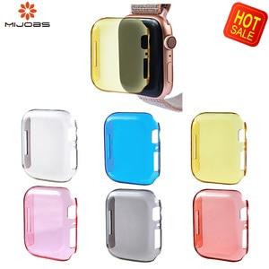 Image 1 - 2019 Мягкий ТПУ полный Смарт часы чехол для Apple Watch 4 3 2 1 40 мм 44 мм защитный ТПУ прочный защитный чехол для Apple Watch