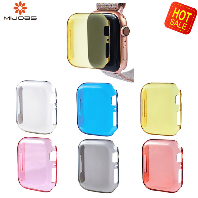 2019Soft TPU Full Smartwatch Case for Apple Watch 4 3 2 1 40MM 44MM Protective TPU Strong Screen Protector Cover For Apple Watch