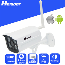 Security Surveillance WiFi IP 960P 2 8mm Lens Outdoor P2P Night Vision HD Camera with motion