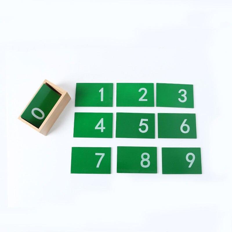 En bois début éducatif Montessori mathématiques jouet mathématiques papier de verre chiffres boîte Montessori mathématiques matériaux apprentissage jouets C146T
