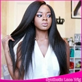 Yaki Straight Synthetic Lace Front&None Lace Wig Black cosplay Hair Glueless Heat Resistant Full Lace Wig 26'' free part 3-4''