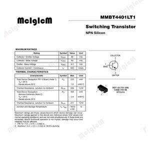 Image 3 - MCIGICM MMBT4401 3000 sztuk MMBT4401LT1G 4401 600mA 40V SOT 23 NPN SMD tranzystor