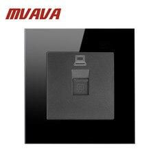 MVAVA Китай производитель кнопочный роскошный черный хрустальный стеклянный настенный светильник розетка сетевая компьютерная розетка